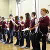 Prayer service and living rosary held at Siena Catholic Academy to kick off Catholic Schools Week. Students also made rosaries that will be given to sixth-graders at all diocesan elementary schools.