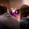 Bishop Matano elevates the chalice during the Liturgy of the Eucharist at Brighton's St. Thomas More Church.