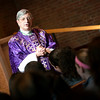 Bishop Matano speaks to Siena Catholic Academy students during his homily at Brighton's St. Thomas More Church.
