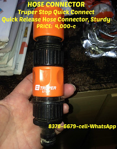 HOSE CONNECTOR - Truper Stop Quick Connect•Quick Release Hose Connector, sturdy/last long = 4,000-c