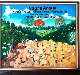 "Nayra Araya  - Costa Rican Impressionist – 1988 - 19-1/2""x24"""