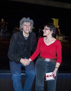 Me beaming at Bob Geldof