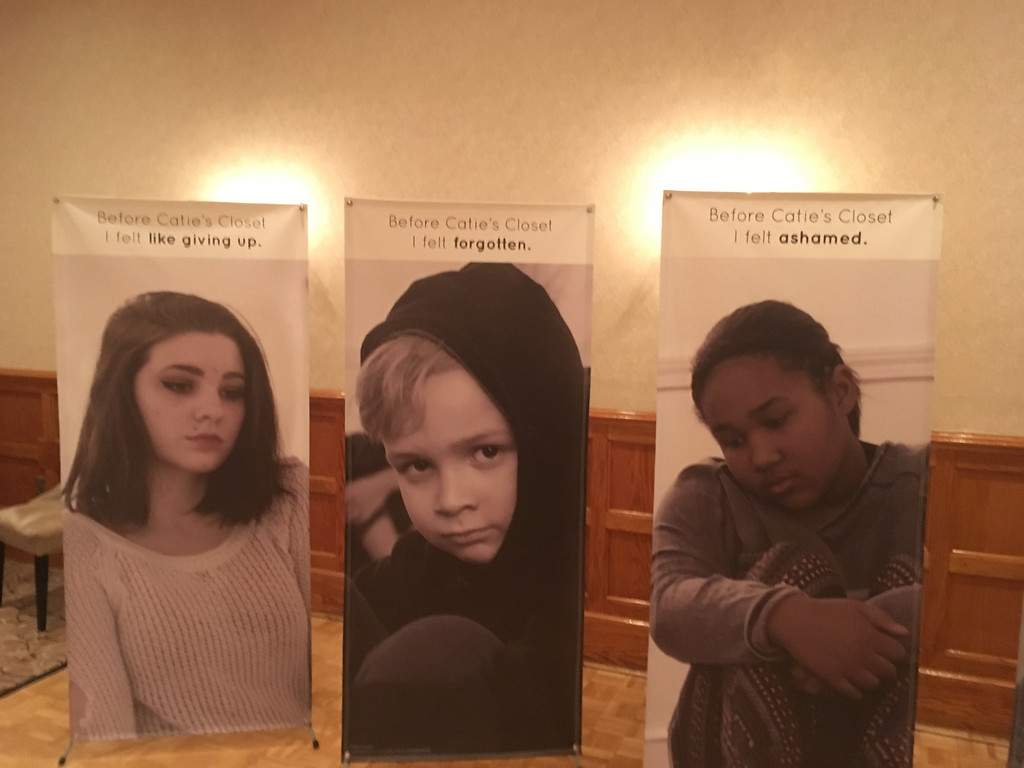 . Posters of sad children