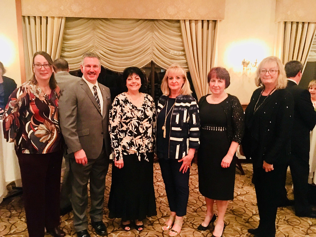 . From left, Carolyn Pelletier of Lawrence, Mark Cochran and Catherine McKay, both of Dunstable, Kathy Gendron and Pat Cox of Lowell, and Louise Carvalho of North Andover