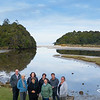 Our group in Mill Creek, Stewart Island