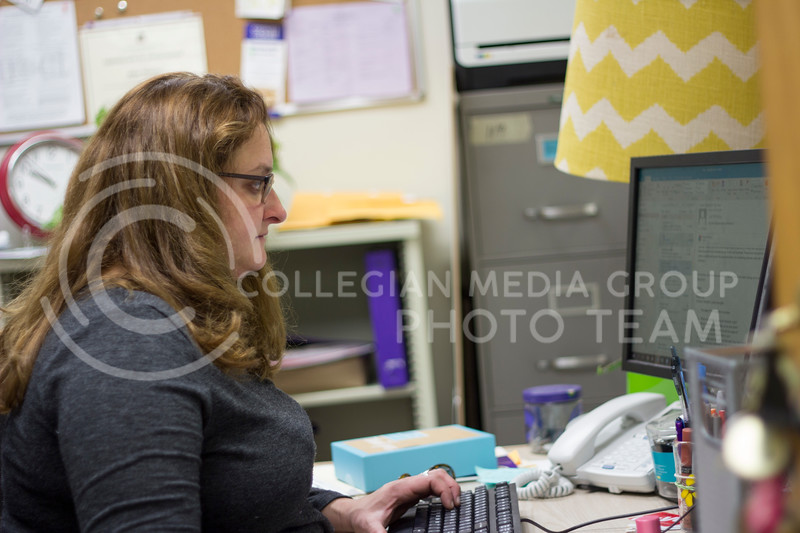 Erin Bishop, the Coordinator for Cats Cupboard oversee's voluenteers to help keep Cats Cupboard running smoothly. (Alex Shaw | Collegian Media Group)