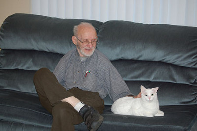 Grandpa Hiller with Sylvia 04/23/06