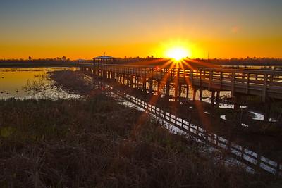 Sunrise at Cattail Marsh on January 30, 2017