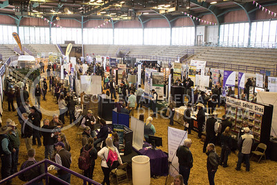 Commercial trade show and educational exhibits in Weber Arena at Cattlemen's Day on March 3, 2017 (Regan Tokos | The Collegian)