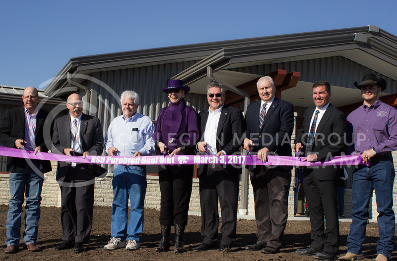 KSU Purebred Beef Unit Ribbon Cutting March 3, 2017