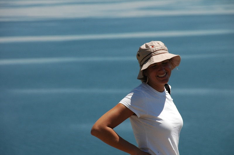 Audrey at Lake Sevan, Armenia