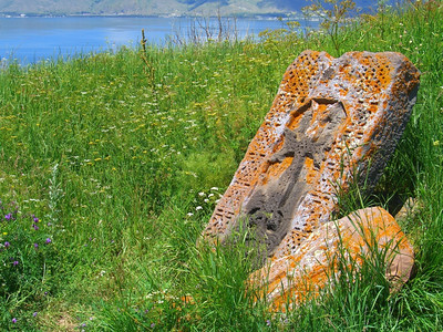 Carved Stones with Crosses - Sevan, Armenia