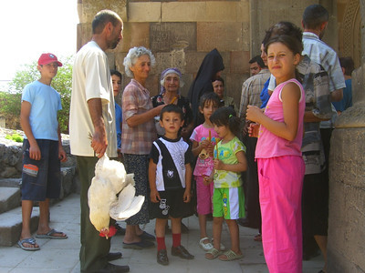 Family Blessing at Khor Virap - Yerevan, Armenia