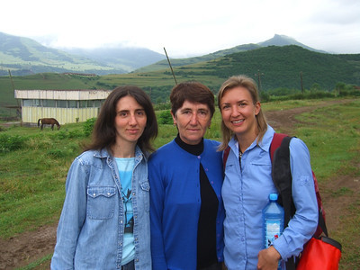 Audrey with Homestay Family - Tatev, Armenia