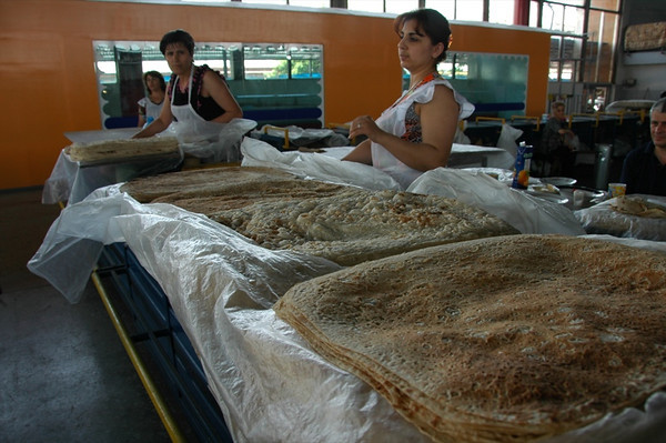 Vendors Preparing the Lavash - Yerevan, Armenia