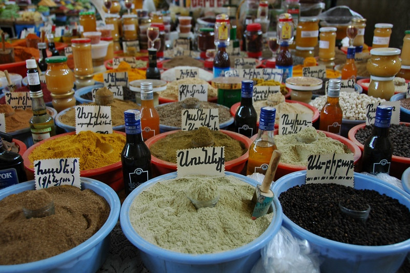 Spices at the Market - Yerevan, Armenia