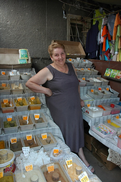 Spice Vendor at Market - Yerevan, Armenia