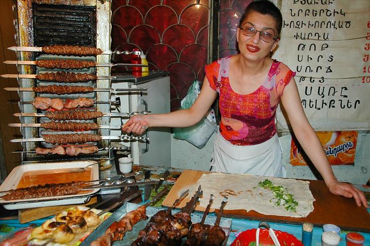 Kebab Vendor - Yerevan, Armenia