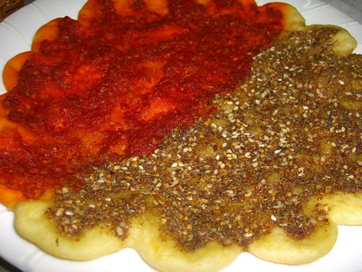 Flat Bread with Zatar and Tomato - Yerevan, Armenia