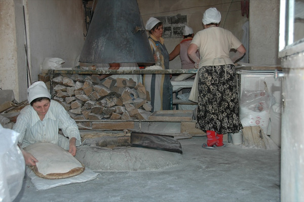 Women Making Fresh Lavash - Yerevan, Armenia