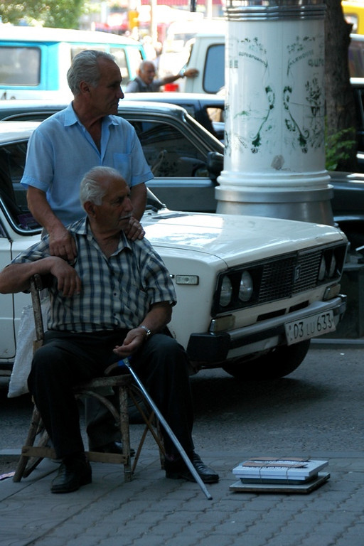 Two Old Men and a Weighing Scale - Yerevan, Armenia