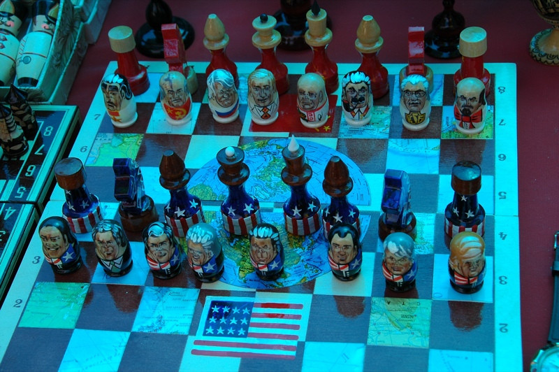 Russian-USA Chess Board - Yerevan, Armenia