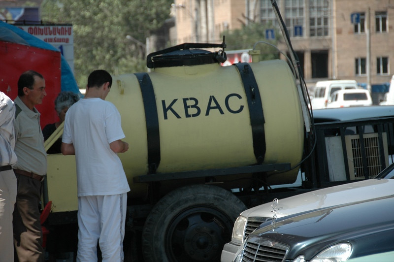 Tank of Kvas - Yerevan, Armenia