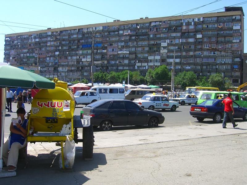 Busy City Block - Yerevan, Armenia