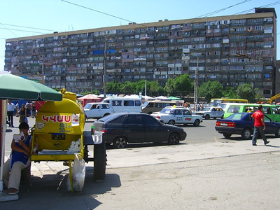 Busy City Block - Yerevan, Armenia