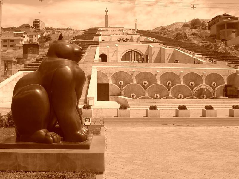 A Black, Fat Cat - Yerevan, Armenia