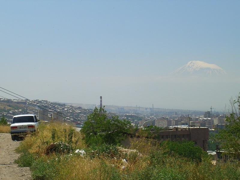 Aerial View of the City - Yerevan, Armenia
