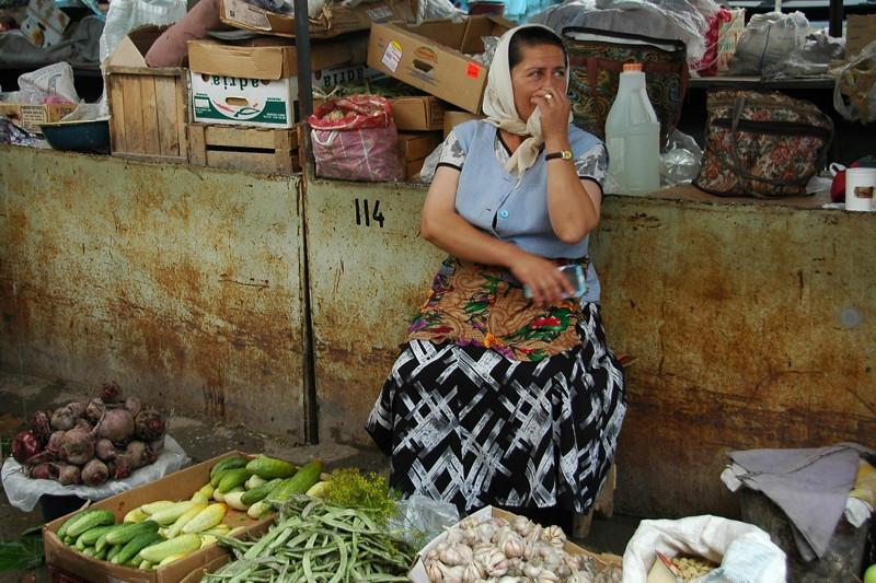 Woman Vendor at Market - Shaki, Azerbaijan