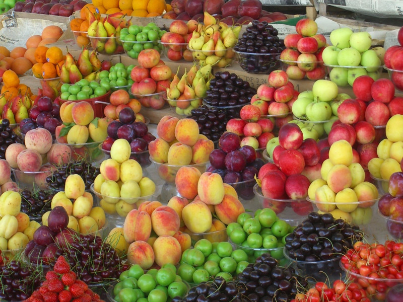 Ripe, Sweet, Colorful Fruits at Market - Baku, Azerbaijan