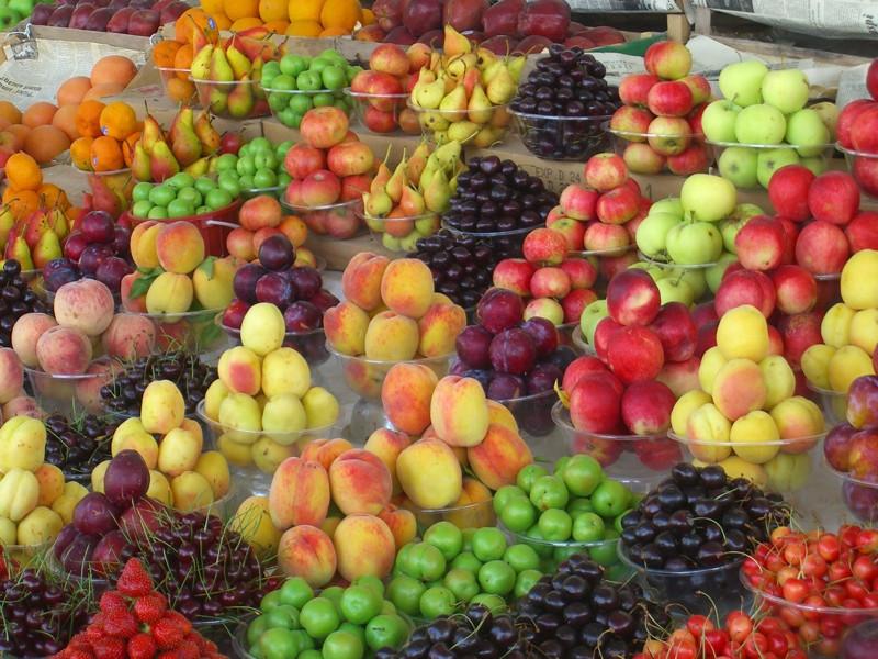 Ripe, Sweet, Colorful Fruits at Market - Baku, Azerbaijan