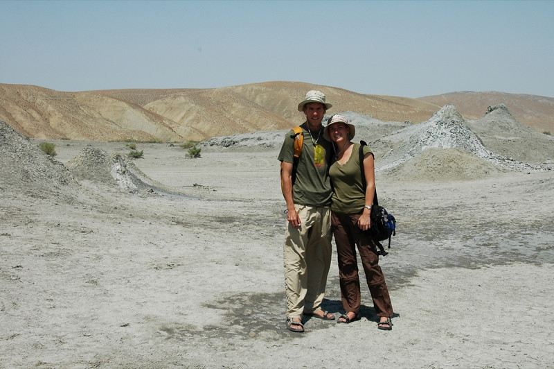 Audrey and Dan at Gobustan, Azerbaijan