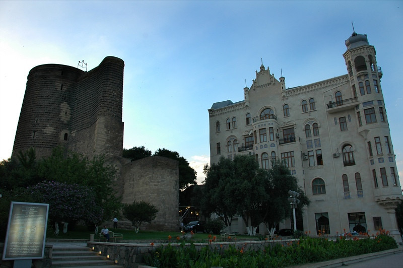 Maiden Tower and Hajinski Mansion - Baku, Azerbaijan