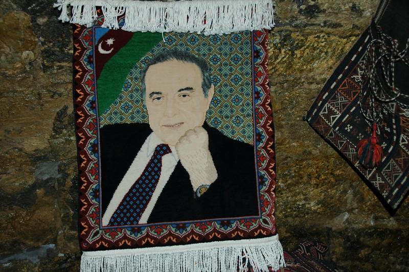 Rug with President's Face - Baku, Azerbaijan