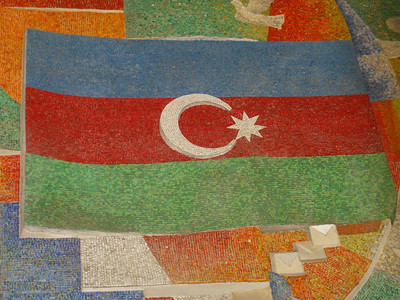 Azerbaijan's Flag Mosaic - Baku, Azerbaijan