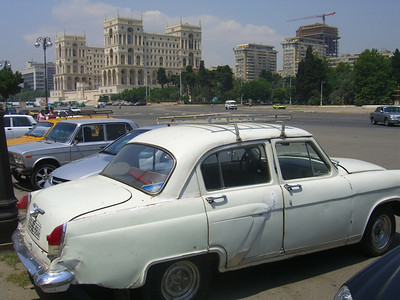 Vintage Car in the City - Baku, Azerbaijan
