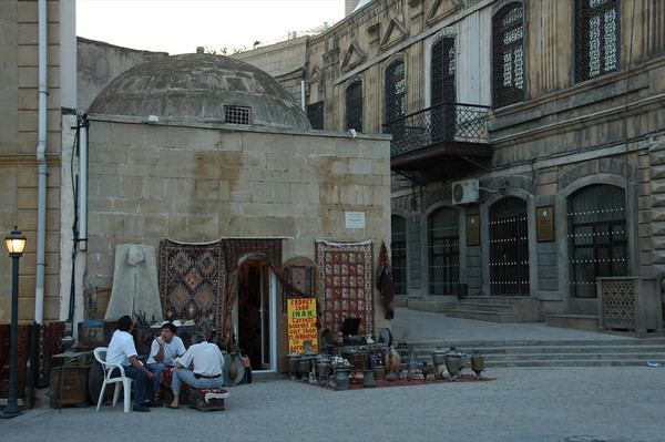 Tea on the Sidewalk - Baku, Azerbaijan
