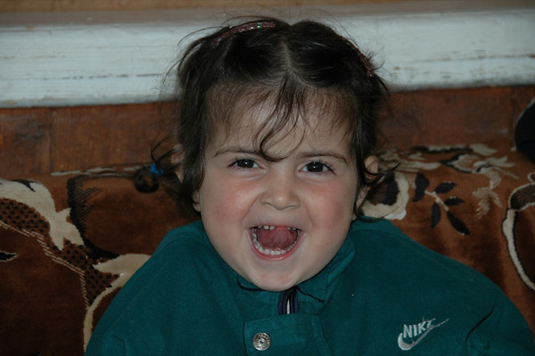 Laughing Little Girl - Lahic, Azerbaijan
