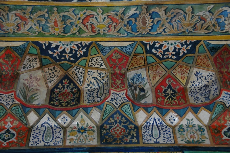 Colorful Paintings at Khan's Palace - Sheki, Azerbaijan