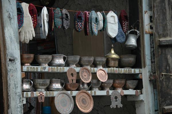 Handicrafts on Streets of Lahic, Azerbaijan