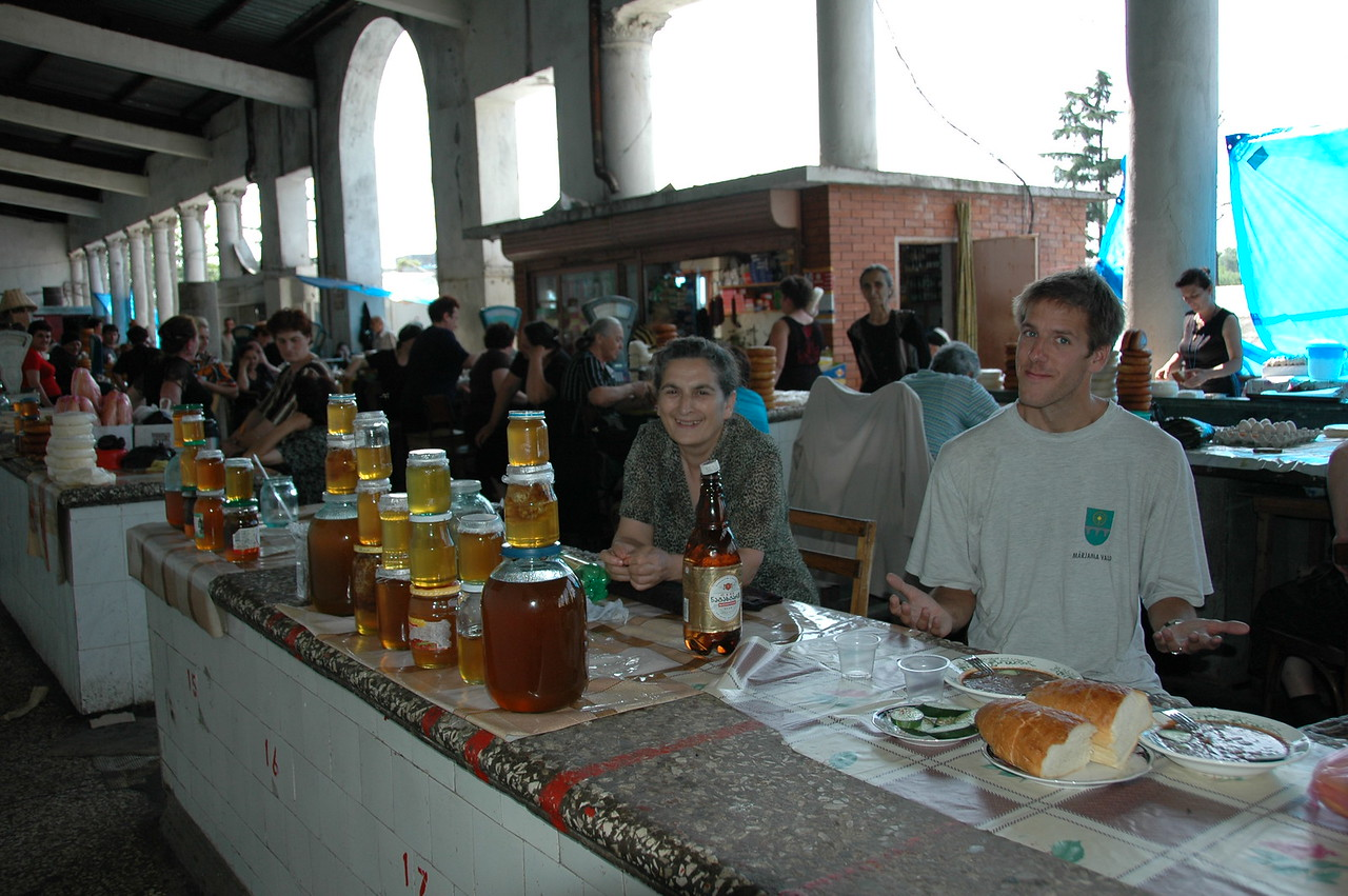 Dan with Honey Vendors - Zugdidi, Georgia