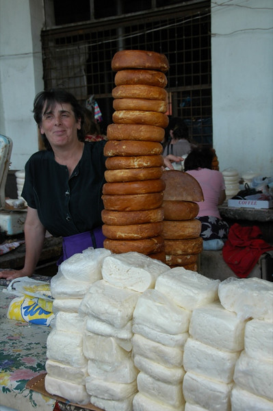 Cheese Vendor at Market - Zugdidi, Georgia