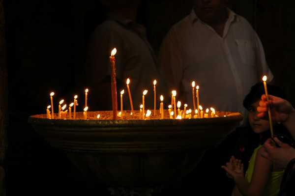 Candles at Svetitskhoveli Cathedral - Mtskheta, Georgia