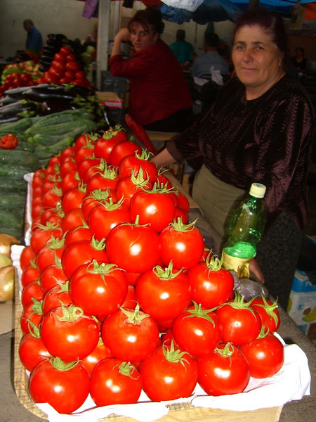 Lady Selling Red Tomatoes -Tbilisi, Georgia