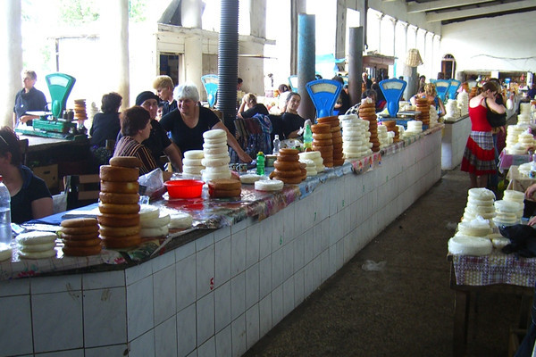 Cheese Vendors at Market - Zugdidi, Georgia