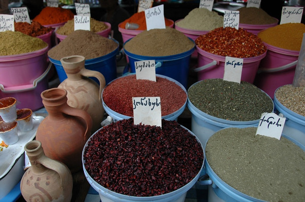 Spices at Telavi Market - Kakheti, Georgia
