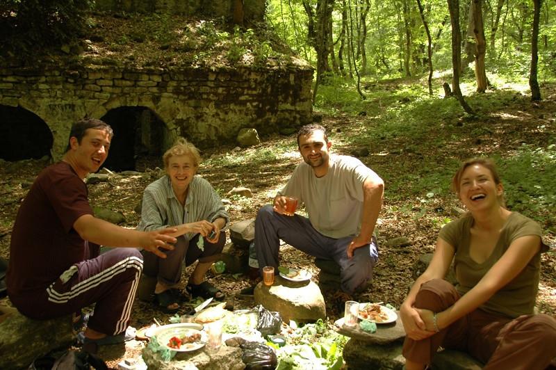 Georgian Friends on a Feast - Kakheti, Georgia